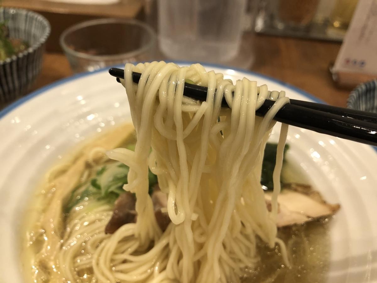 麺宿 志いな 潮そば 細麺
