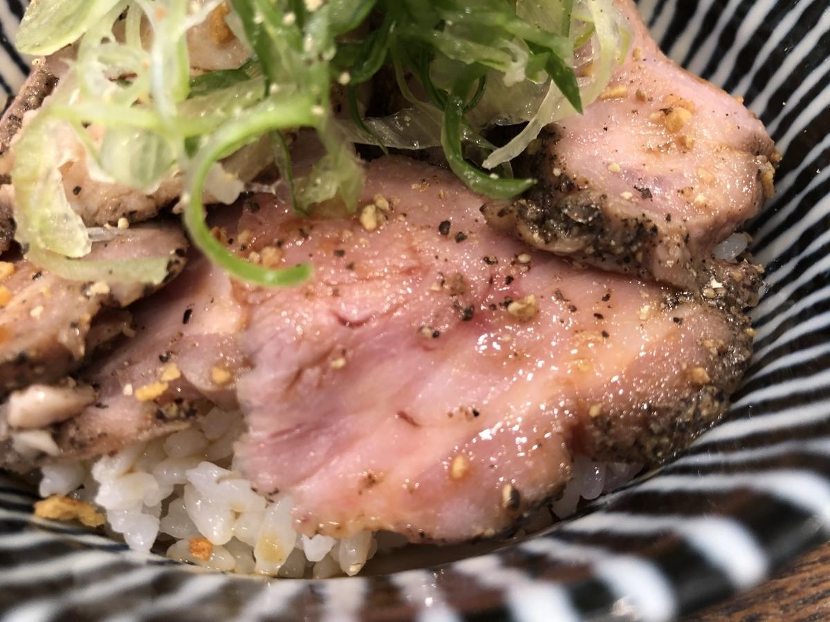 麺宿 志いな ローストポーク丼 ジューシー