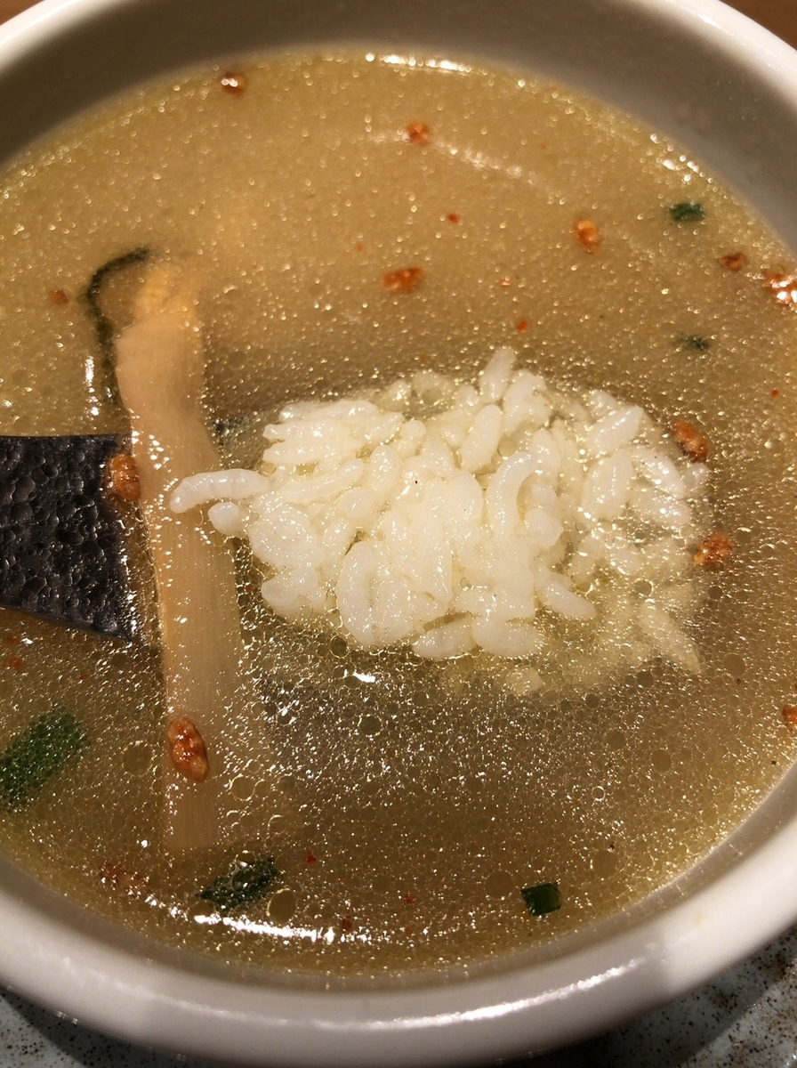 塩つけ麺 灯火 塩つけ麺 追い飯