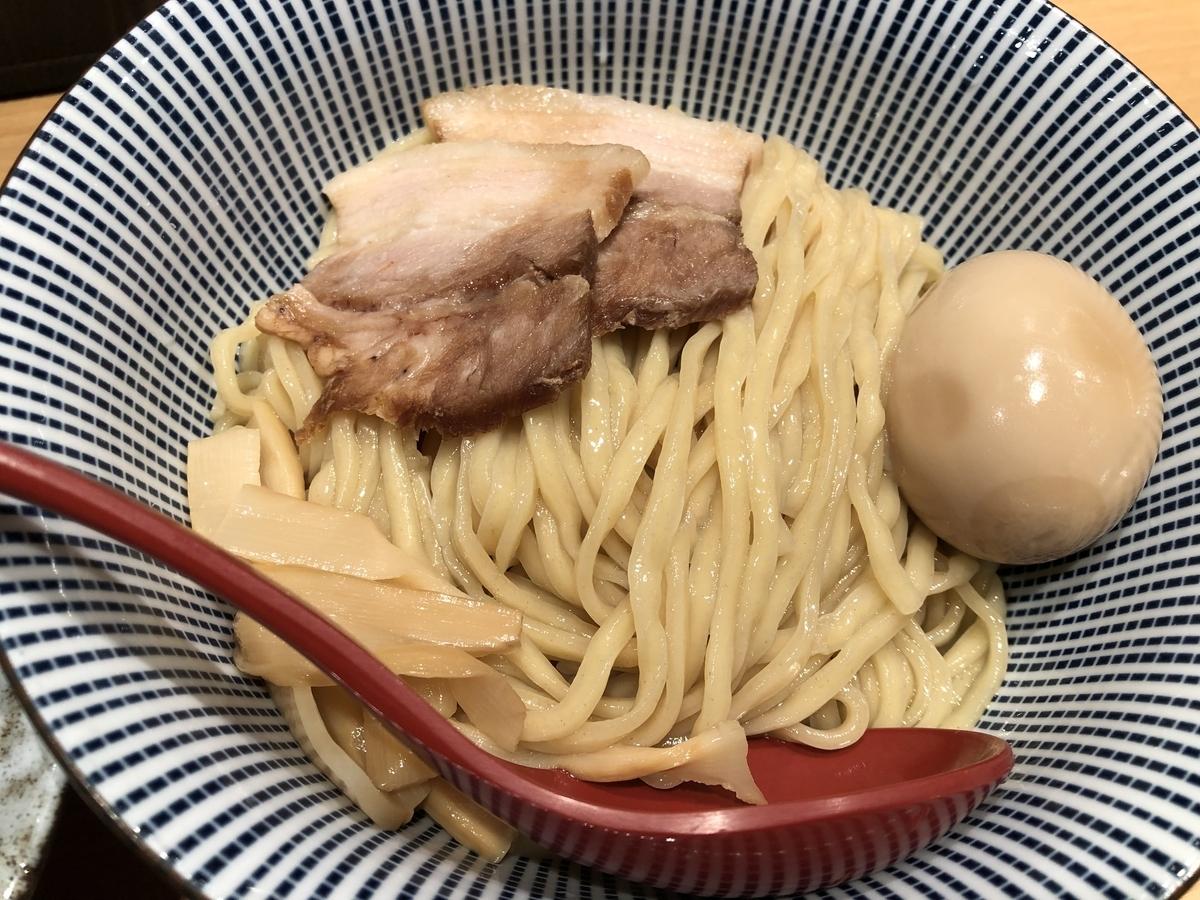 塩つけ麺 灯火 濃厚魚介つけ麺 麺