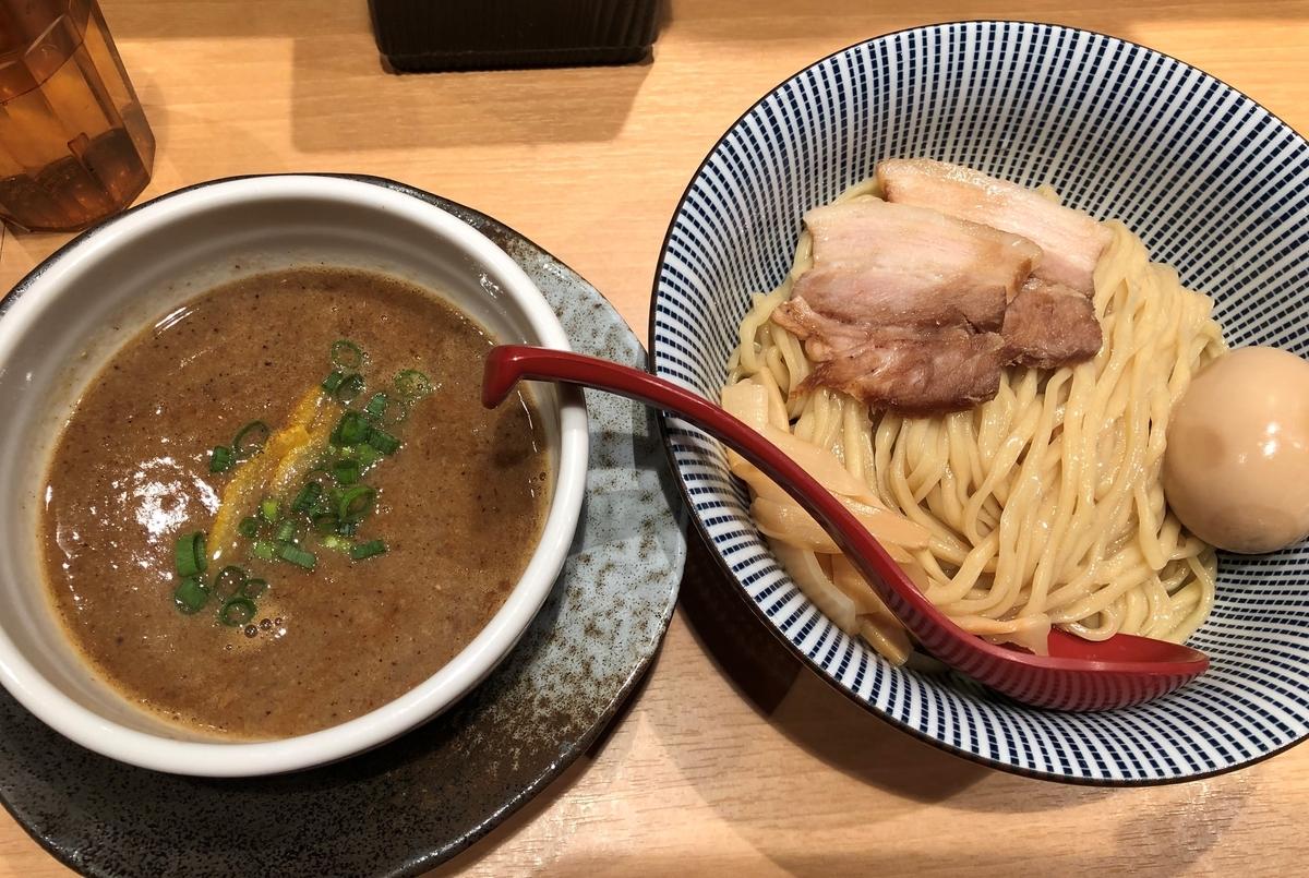 塩つけ麺 灯火 濃厚魚介つけ麺