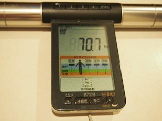 ダイエット43日目体重