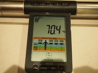 ダイエット46日目体重