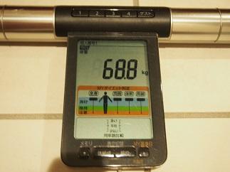 ダイエット55日目体重