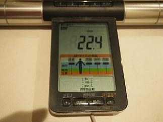 ダイエット56日目BMI