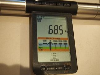 リバウンド対策期1日目体重
