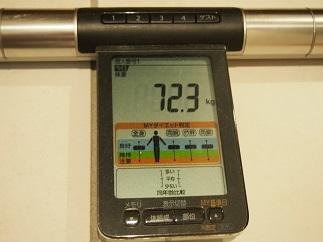 ダイエット58日目体重