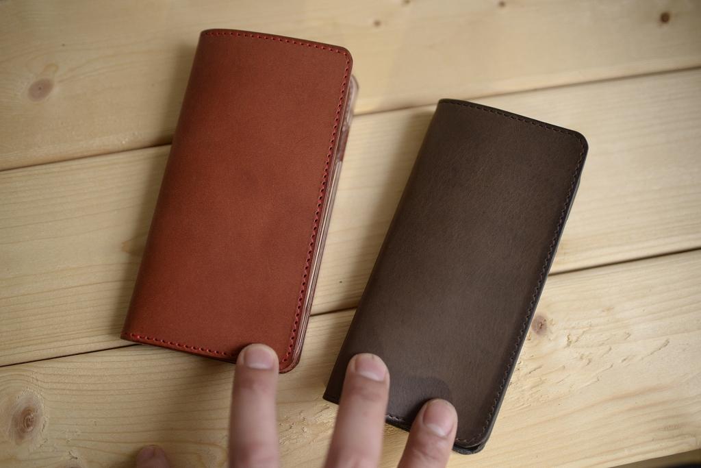 革のiPhoneケース ハンドメイド