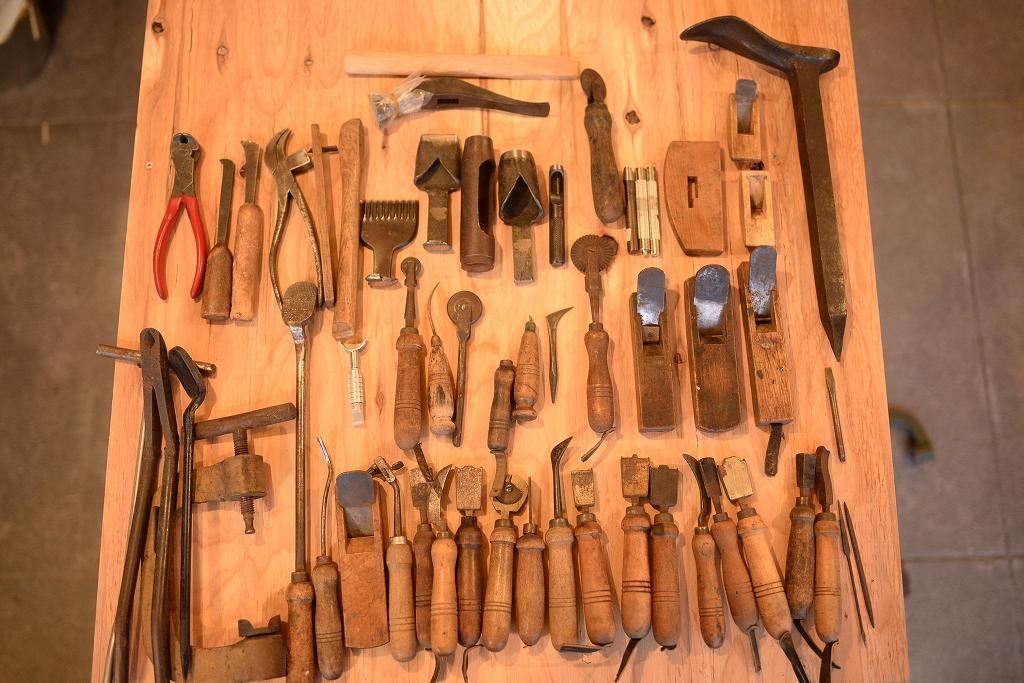 靴職人の道具