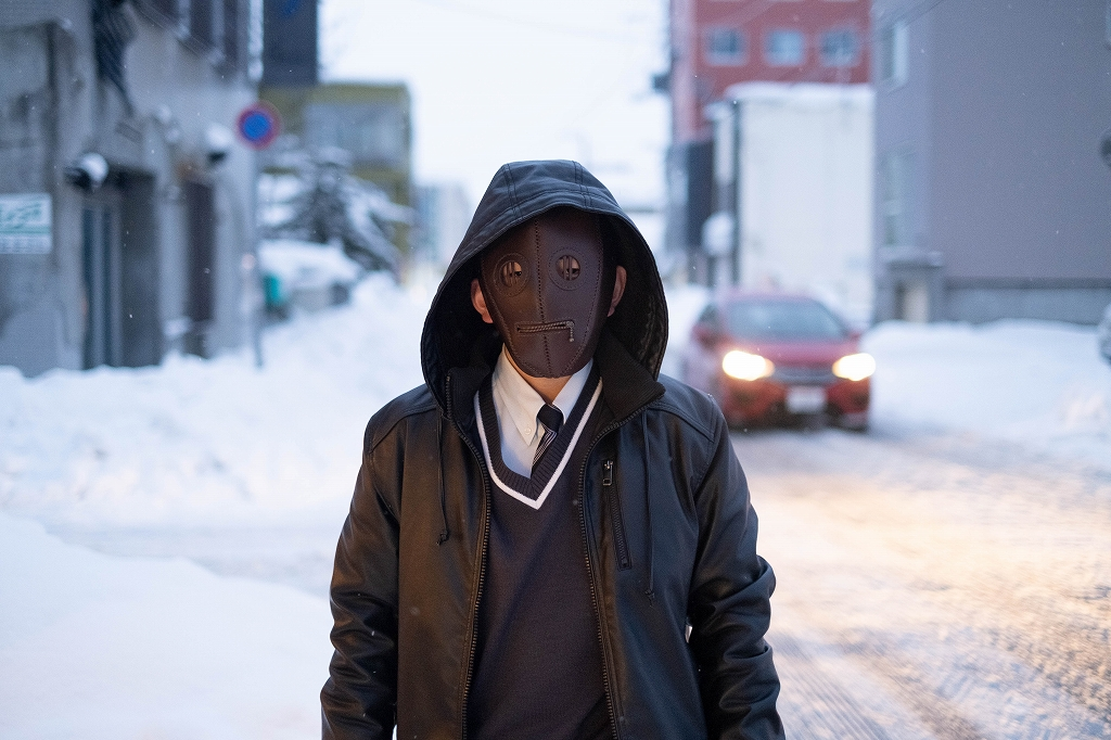 革の仮面(マスク) 皮