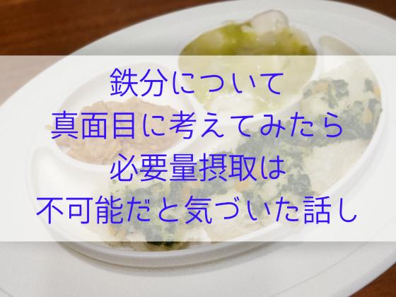 鉄分 離乳食