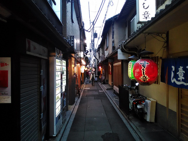 先斗町の通り
