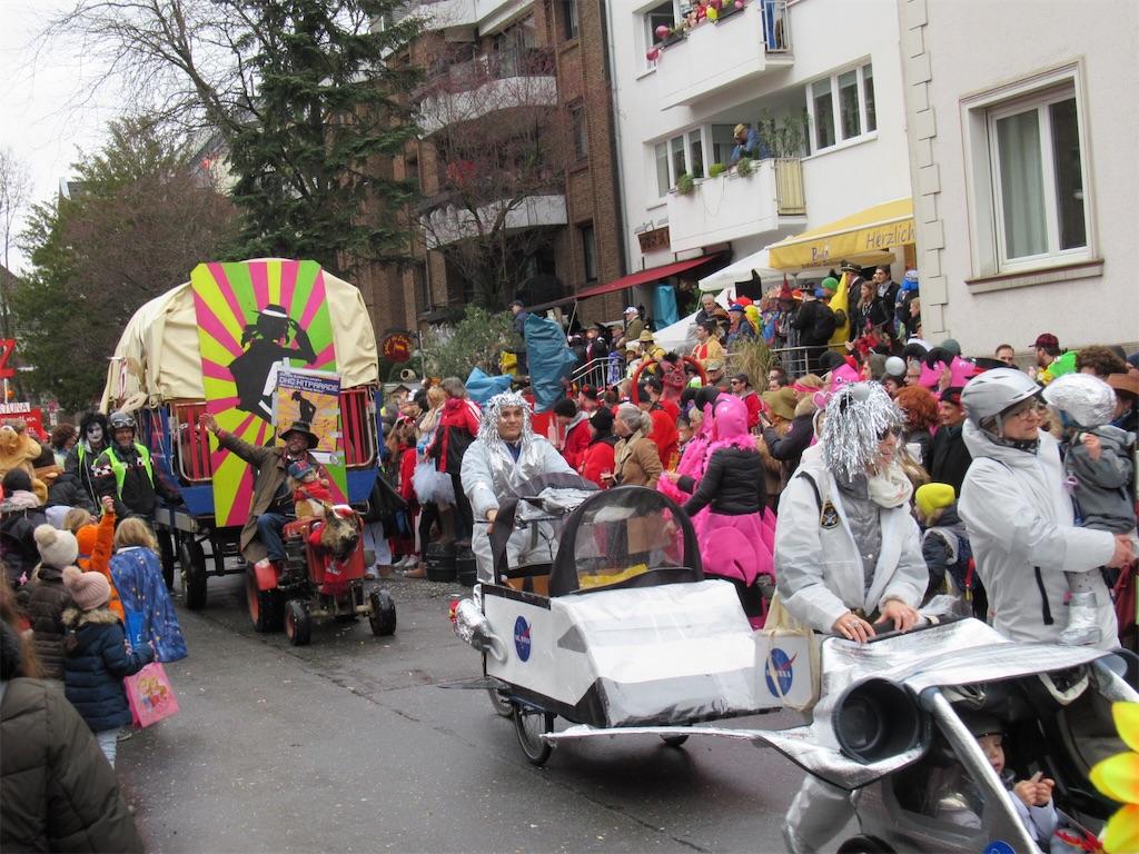 ニーダーカッセルのパレードの様子