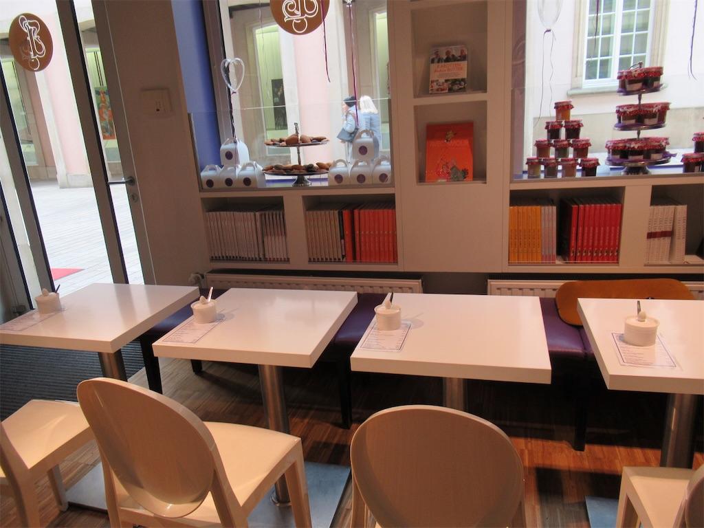 ルクセンブルクのカフェ内装