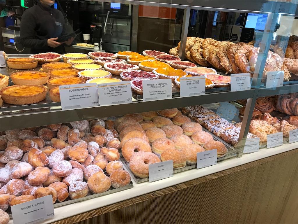 ルクセンブルク駅構内のパン屋さん
