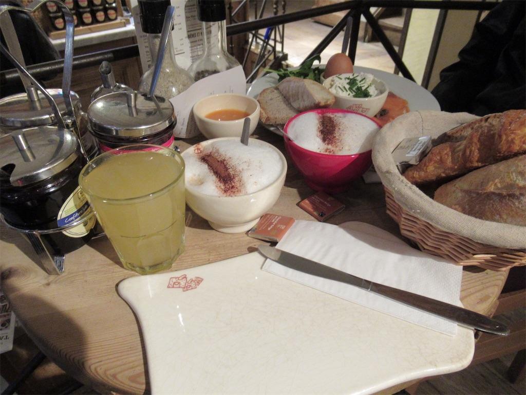 「ル・パン・コティディアン」の朝食セット