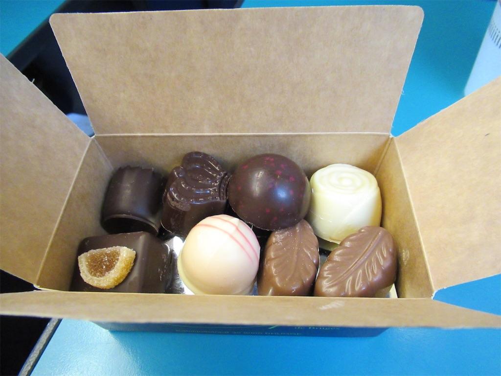 ブルージュで購入したチョコレートBox