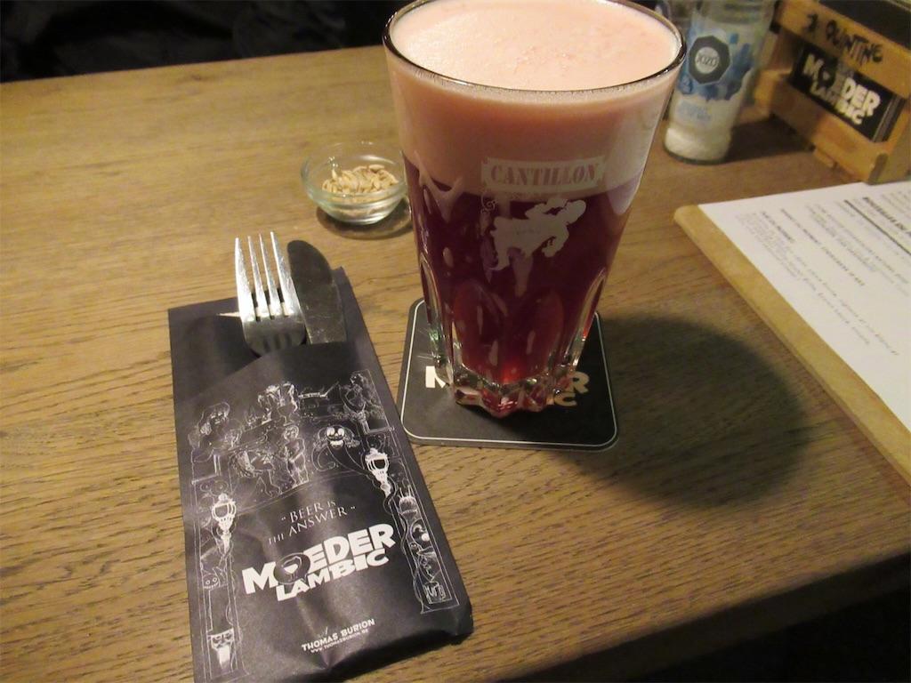 「ムーデル ランビック (フォンテーナ店)」のチェリービール