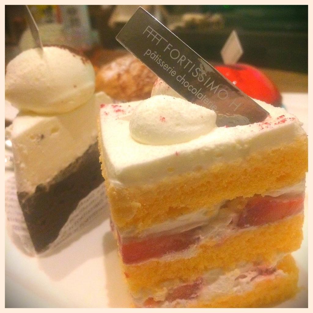 フォルティッシモアッシュのケーキの写真