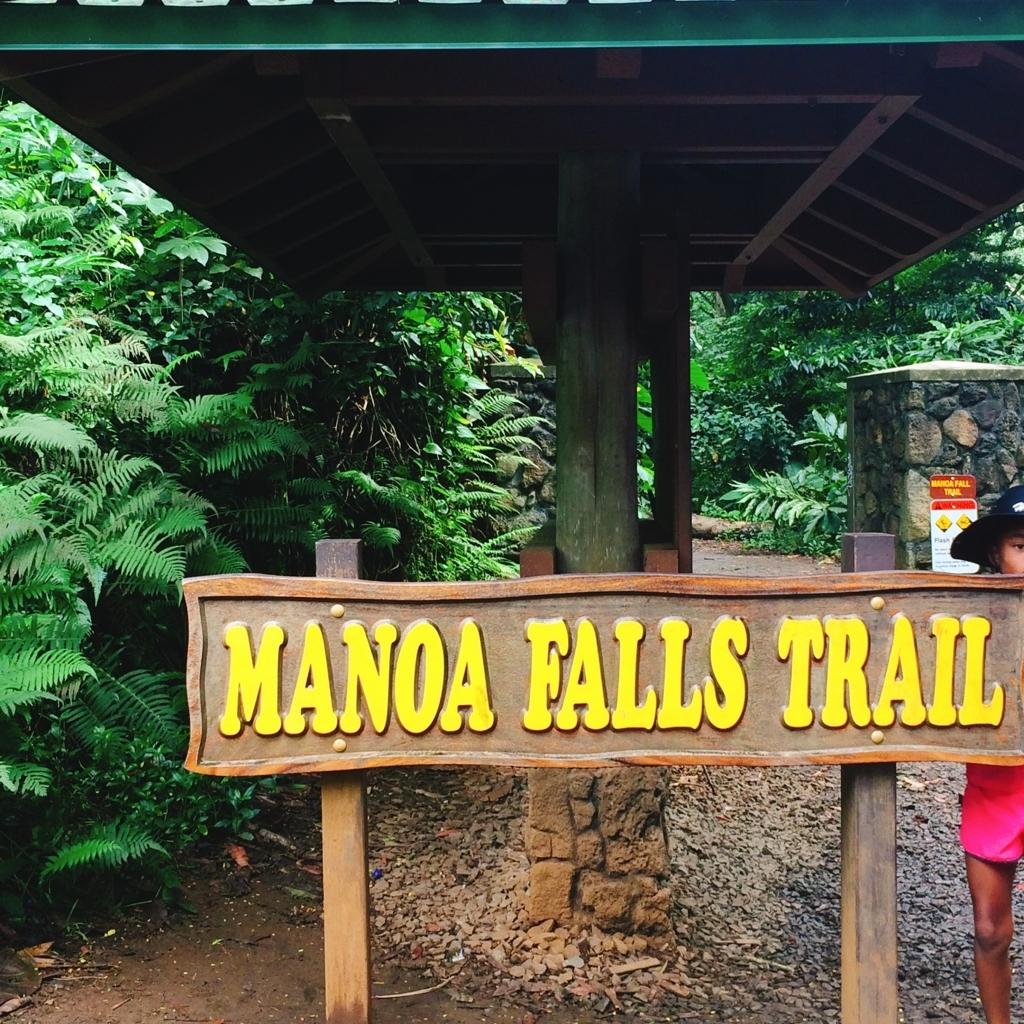 マヌアの滝看板の写真