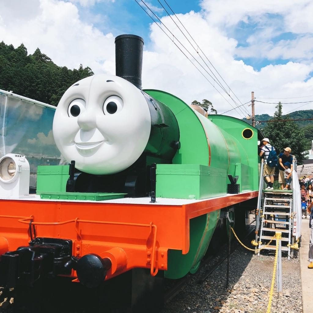 緑色のトーマスの仲間の写真