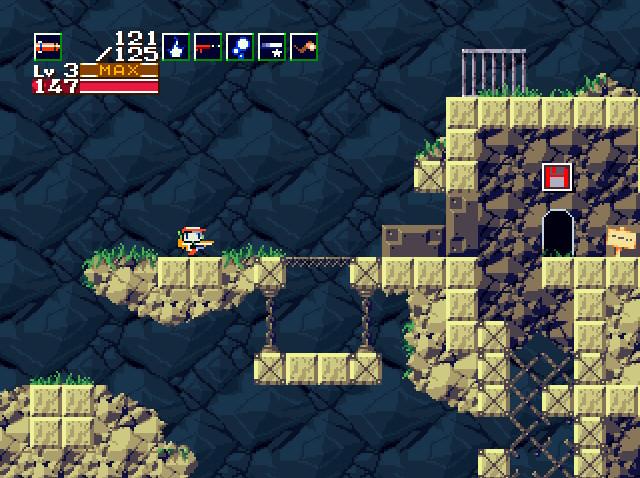 洞窟物語-ミミガーの村-スーパーミサイル使用時
