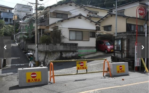 長崎市,住宅団地,私道,バリケード,封鎖