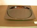 栃拭漆楕円方皿