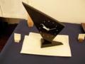 栃拭漆置時計-三角-