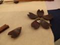 楓蘇芳染拭漆箸置-さくら-