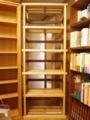 アッシュとウォールナットの本棚