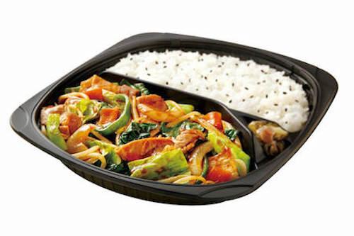 1日に必要な野菜の半分使用 6品目の醤油野菜炒め弁当