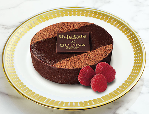 ローソンのUchiCafe' SWEETS × GODIVA 濃厚ショコラケーキ