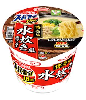 エースコックの「スーパーカップ1.5倍 ご当地鍋博多編 水炊き風塩ラーメン」