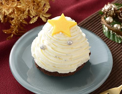 ローソンの白いクリスマスツリーのケーキ