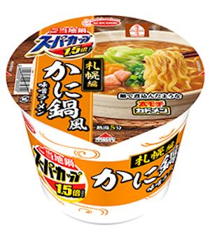 エースコックの「スーパーカップ1.5倍 ご当地鍋札幌編 かに鍋風みそラーメン」