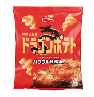 ジャパンフリトレーのドラゴンポテトパワフルBBQ味