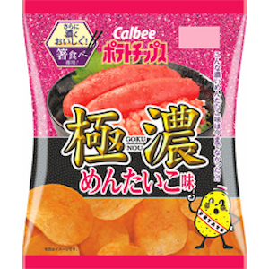 カルビーのポテトチップス極濃 めんたいこ味