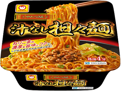 東洋水産の「マルちゃん やみつき屋 汁なし担々麺」