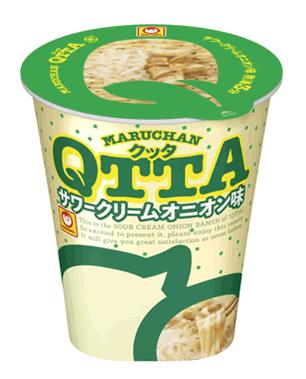 東洋水産の「MARUCHAN QTTA(クッタ) サワークリームオニオン味」