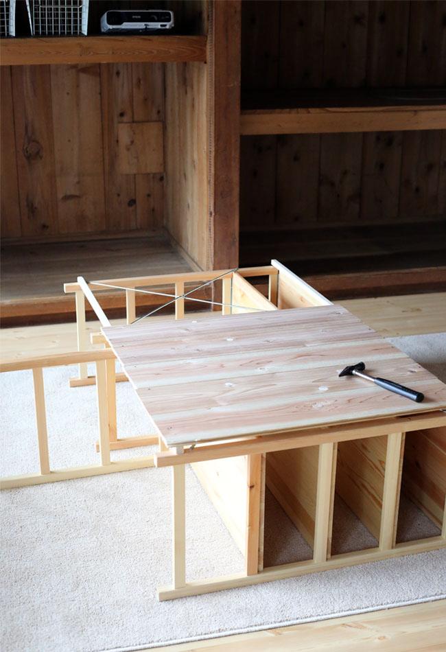 無印良品の棚でDIY。キッチンカウンターをDIYで作る。作り方その2