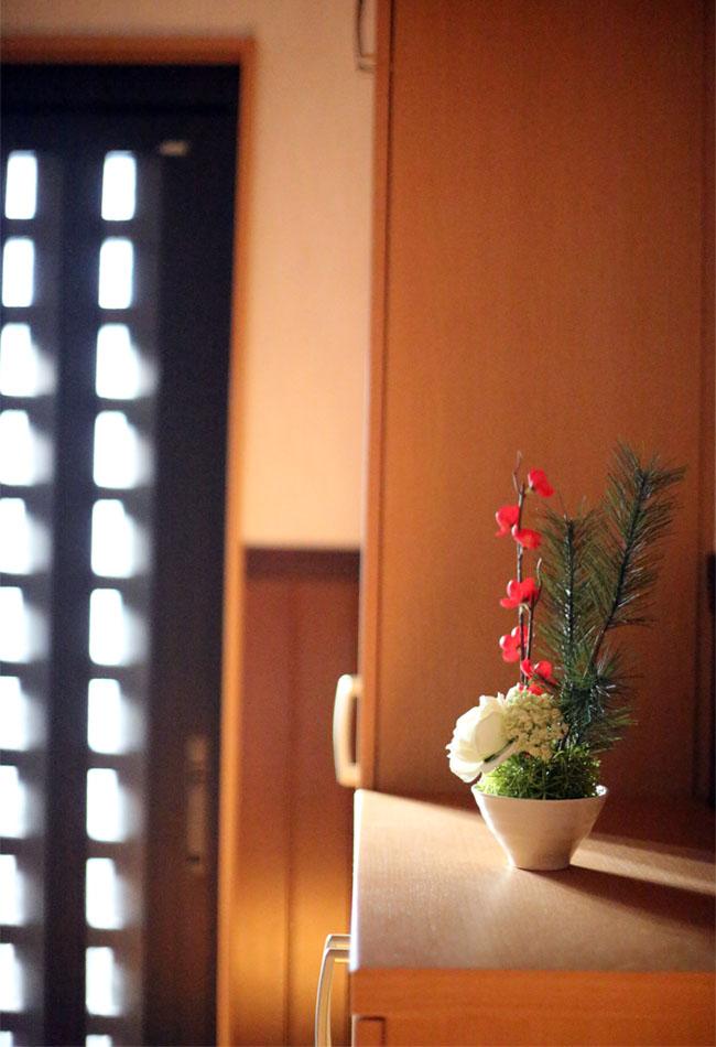 玄関のお正月飾りを手作り