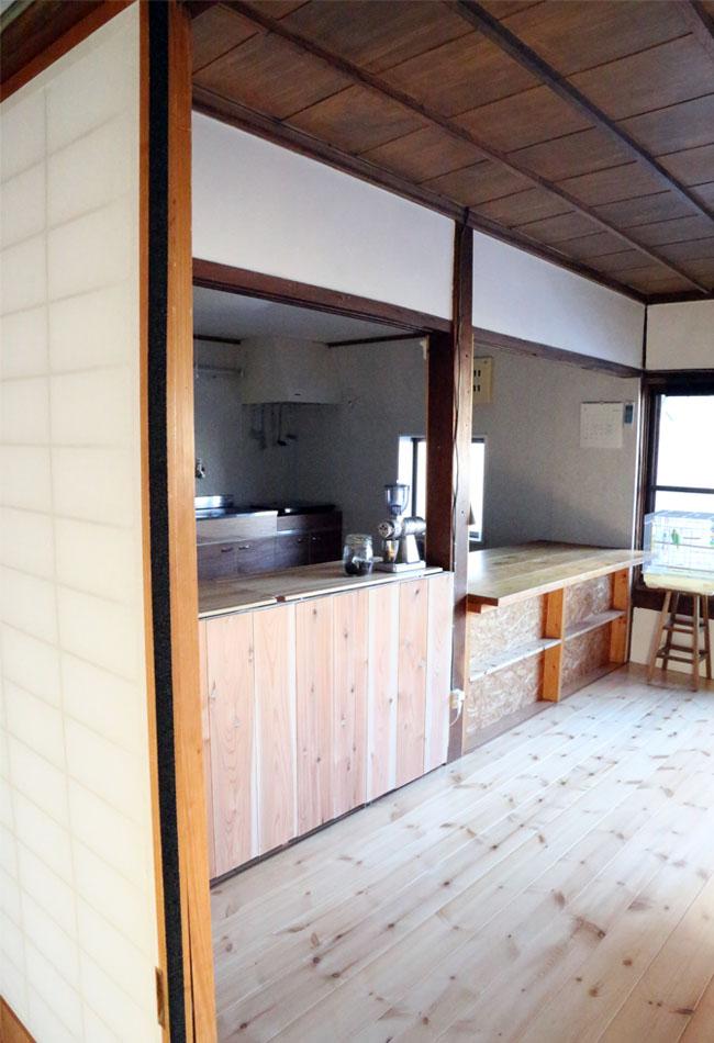 キッチンカウンターをDIYで作る