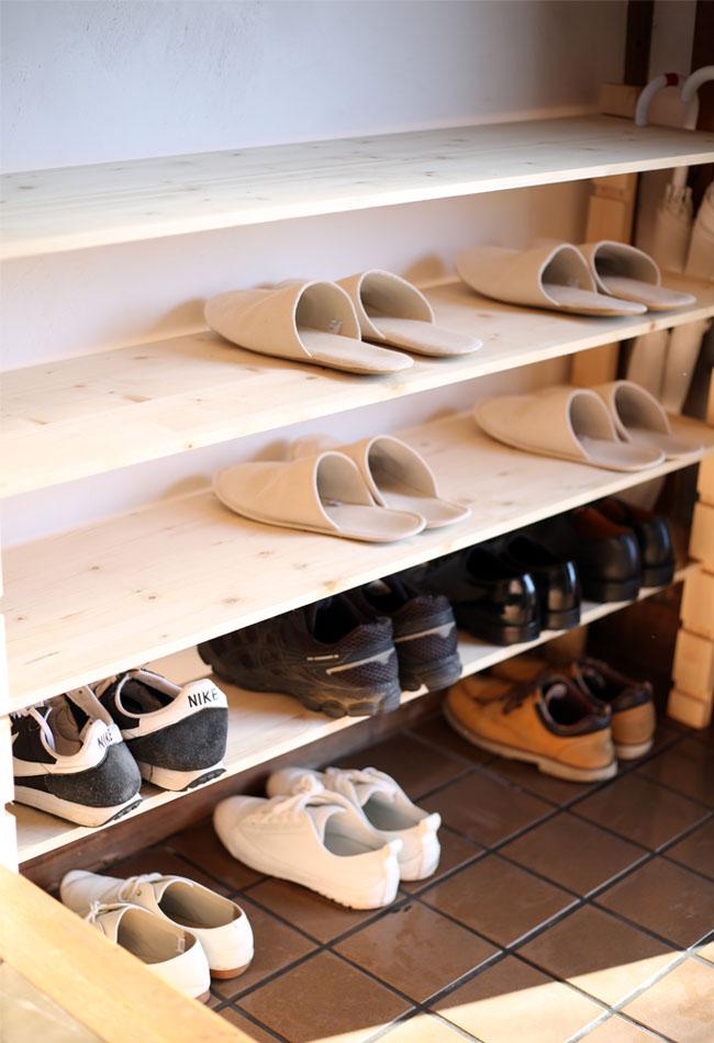 家族全員の靴の数