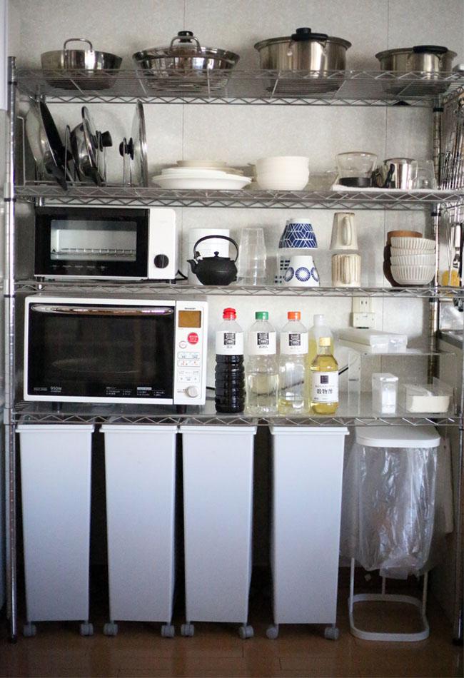 ユニットシェルフのキッチン活用