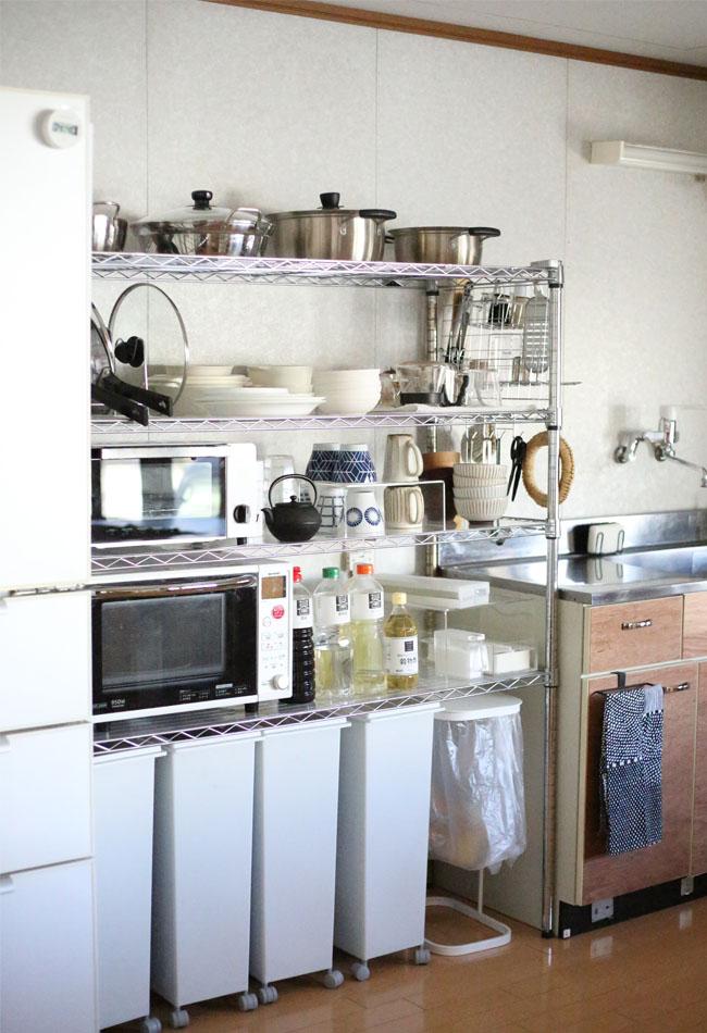 家族全員が使いやすいキッチン収納