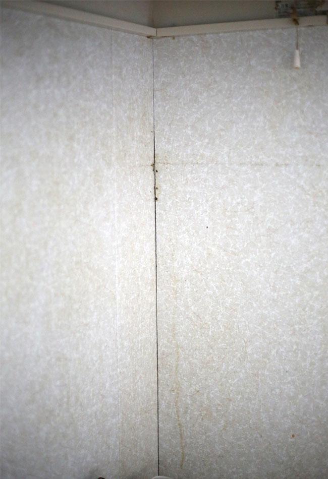 キッチンの壁の油汚れ