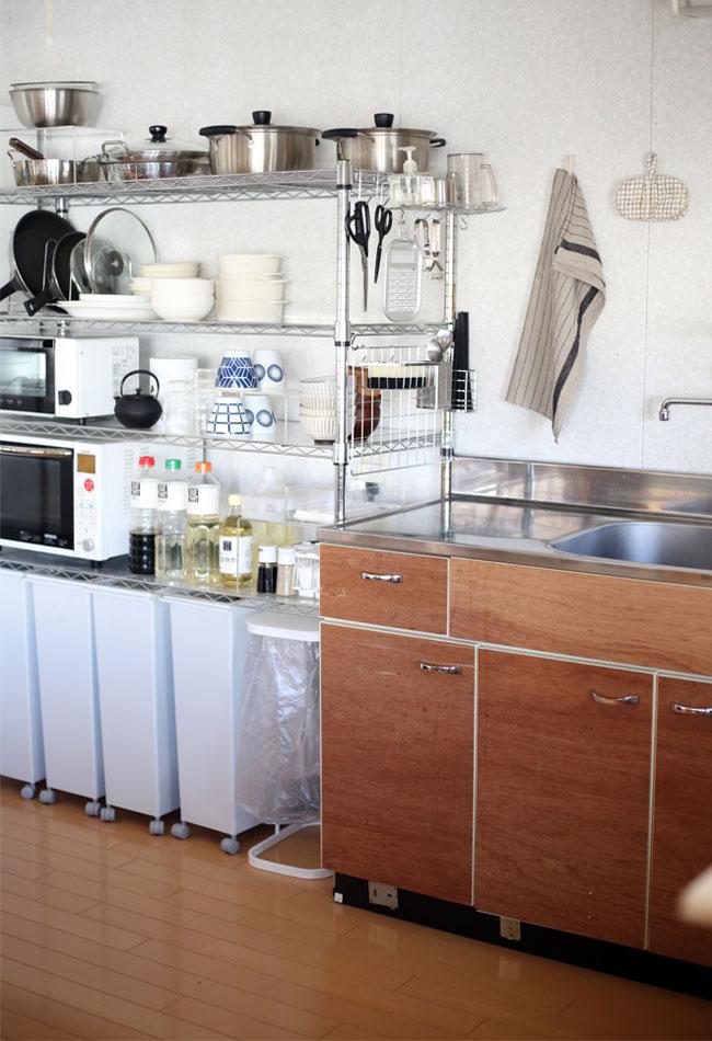 キッチンの付近の位置使いやすく