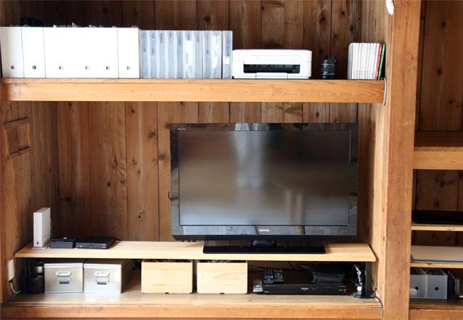テレビ周りの収納