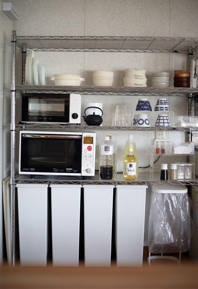 キッチン食器棚片付け後